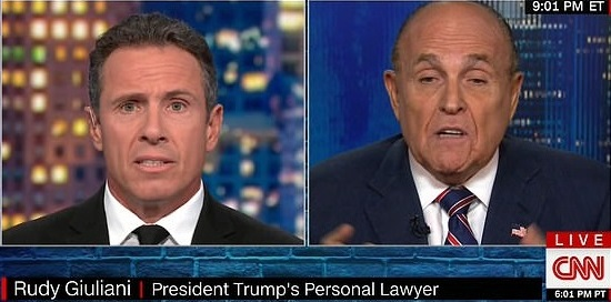 Watch: Rudy Giuliani interview goes off the rails.